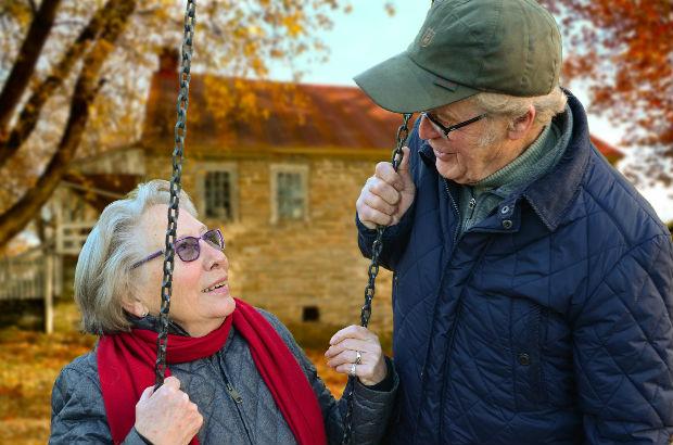 元気なお年寄り夫婦