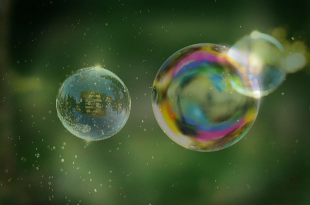 バブルがはじける